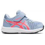 ASICS Contend 7 Toddler Shoe - Mist/Blazing Coral ASICS Contend 7 Toddler Shoe - Mist/Blazing Coral