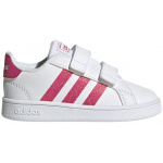 Adidas GRAND COURT I Toddler Shoe - FTWR White/Real Pink/FTWR White Adidas GRAND COURT I Toddler Shoe - FTWR White/Real Pink/FTWR White