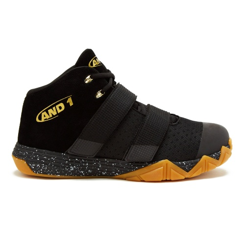AND1 Chosen One BYT Adults Basketball Shoe - Black/Gold/Gum