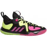 Adidas Harden Stepback 2.0 Adults Basketball Shoe - Core Black/Shock Pink/Team Solar Yellow Adidas Harden Stepback 2.0 Adults Basketball Shoe - Core Black/Shock Pink/Team Solar Yellow