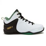 AND1 Tsunami WBG Kids Basketball Shoe - White/Black/Medium Green AND1 Tsunami WBG Kids Basketball Shoe - White/Black/Medium Green