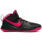 Nike Team Hustle D 9 PS Kids Basketball Shoe - BLACK/RACER PINK Nike Team Hustle D 9 PS Kids Basketball Shoe - BLACK/RACER PINK