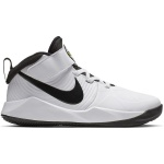 Nike Team Hustle D 9 PS Kids Basketball Shoe - WHITE/BLACK Nike Team Hustle D 9 PS Kids Basketball Shoe - WHITE/BLACK