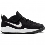 Nike Team Hustle Quick PS Kids Basketball Shoe - BLACK/WHITE Nike Team Hustle Quick PS Kids Basketball Shoe - BLACK/WHITE
