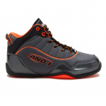 AND1 Flare Kids Basketball Shoe - Black/Asphalt/F Coral AND1 Flare Kids Basketball Shoe - Black/Asphalt/F Coral