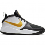 Nike Team Hustle D 9 GS Kids Basketball Shoe - Black/Metallic Gold/White Nike Team Hustle D 9 GS Kids Basketball Shoe - Black/Metallic Gold/White