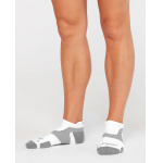 2XU VECTR Light Cushion No Show Socks - WHITE/GREY 2XU VECTR Light Cushion No Show Socks - WHITE/GREY