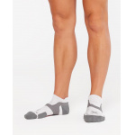 2XU Vectr Cushion No Show Socks - WHITE/GREY 2XU Vectr Cushion No Show Socks - WHITE/GREY