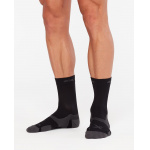 2XU Vectr Cushion Crew Socks - BLACK/TITANIUM 2XU Vectr Cushion Crew Socks - BLACK/TITANIUM