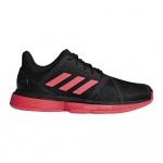Adidas Court Jam Bounce Men's Tennis Shoe - Core Black/Shock Red/Ftwr White Adidas Court Jam Bounce Men's Tennis Shoe - Core Black/Shock Red/Ftwr White