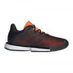 Adidas SoleMatch Bounce Men's Tennis Shoe - Core Black/Core Black/Solar Orange Adidas SoleMatch Bounce Men's Tennis Shoe - Core Black/Core Black/Solar Orange