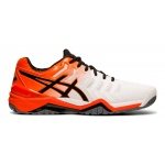 Asics GEL-Resolution 7 Men's Tennis Shoe - WHITE/KOI Asics GEL-Resolution 7 Men's Tennis Shoe - WHITE/KOI