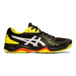 ASICS GEL-Challenger 12 Men's Tennis Shoe - BLACK/SOUR YUZU ASICS GEL-Challenger 12 Men's Tennis Shoe - BLACK/SOUR YUZU