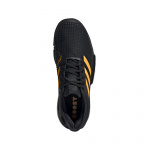Image 2: Adidas SoleCourt Men's Tennis Shoe - Core Black/Flash Orange/Carbon