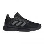 Adidas SoleMatch Bounce Mens Tennis Shoe - Core Black/Night Met./Core Black Adidas SoleMatch Bounce Mens Tennis Shoe - Core Black/Night Met./Core Black