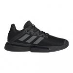 Adidas SoleMatch Bounce Mens Tennis Shoe - Core Black/Night Met./Core Black Adidas SoleMatch Bounce Mens Tennis Shoe - Core Black/Night Met./Core Black