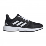 Adidas CourtJam Bounce Mens Tennis Shoe - Core Black/FTWR White/Matte Silver Adidas CourtJam Bounce Mens Tennis Shoe - Core Black/FTWR White/Matte Silver