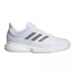 Adidas Solecourt Mens Tennis Shoe - FTWR White/Legacy Green/Green Tint Adidas Solecourt Mens Tennis Shoe - FTWR White/Legacy Green/Green Tint