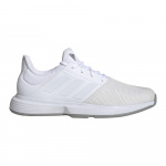 Adidas GameCourt Mens Tennis Shoe - FTWR White/FTWR White/Dove Grey Adidas GameCourt Mens Tennis Shoe - FTWR White/FTWR White/Dove Grey