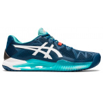ASICS GEL-Resolution 8 Mens Tennis Shoe - Mako Blue/White ASICS GEL-Resolution 8 Mens Tennis Shoe - Mako Blue/White