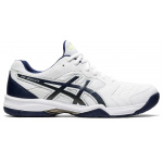 ASICS GEL-Dedicate 6 Mens Tennis Shoe - WHITE/PEACOAT ASICS GEL-Dedicate 6 Mens Tennis Shoe - WHITE/PEACOAT