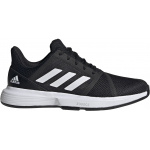 Adidas CourtJam Bounce Mens Tennis Shoe - Core Black/FTWR White/Core Black Adidas CourtJam Bounce Mens Tennis Shoe - Core Black/FTWR White/Core Black