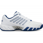 K-SWISS Bigshot Light 3 Mens Tennis Shoe - WHITE/BLUE K-SWISS Bigshot Light 3 Mens Tennis Shoe - WHITE/BLUE