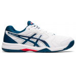 ASICS GEL-Dedicate 6 Mens Tennis Shoe - White/Mako Blue ASICS GEL-Dedicate 6 Mens Tennis Shoe - White/Mako Blue