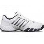 K-Swiss Bigshot Light 4 AC Mens Tennis Shoe - White/Dark Shadow K-Swiss Bigshot Light 4 AC Mens Tennis Shoe - White/Dark Shadow