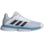 Adidas SoleMatch Bounce Mens Tennis Shoe - FTWR White/Core Black/Halo Blue Adidas SoleMatch Bounce Mens Tennis Shoe - FTWR White/Core Black/Halo Blue
