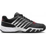 K-Swiss Bigshot Light 4 Mens Tennis Shoe - Black/White/Poppy Red K-Swiss Bigshot Light 4 Mens Tennis Shoe - Black/White/Poppy Red
