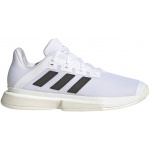 Adidas SoleMatch Bounce Tokyo Mens Tennis Shoe - FTWR White/Core Black/Solar Red Adidas SoleMatch Bounce Tokyo Mens Tennis Shoe - FTWR White/Core Black/Solar Red