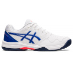ASICS GEL-Dedicate 7 Womens Tennis Shoe - WHITE/LAPIS LAZULI BLUE ASICS GEL-Dedicate 7 Womens Tennis Shoe - WHITE/LAPIS LAZULI BLUE