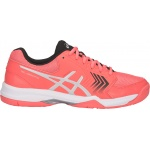 ASICS GEL-Dedicate 5 HC Women's Tennis Shoe - Papaya/Silver - JAN 19 ASICS GEL-Dedicate 5 HC Women's Tennis Shoe - Papaya/Silver - JAN 19