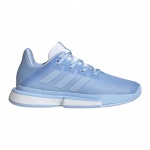 Adidas SoleMatch Bounce Women's Tennis Shoe - Glow Blue/Glow Blue/FTWR White Adidas SoleMatch Bounce Women's Tennis Shoe - Glow Blue/Glow Blue/FTWR White