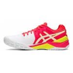 Image 2: ASICS GEL-Resolution 7 Women's Tennis Shoe - White/Laser Pink