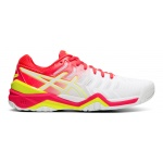 ASICS GEL-Resolution 7 Women's Tennis Shoe - White/Laser Pink ASICS GEL-Resolution 7 Women's Tennis Shoe - White/Laser Pink