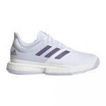 Adidas SoleCourt Womens Tennis Shoe - FTWR White/Tech Purple/Legacy Purple Adidas SoleCourt Womens Tennis Shoe - FTWR White/Tech Purple/Legacy Purple