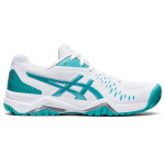 ASICS GEL-Challenger 12 Womens Tennis Shoe - WHITE/TECHNO CYAN ASICS GEL-Challenger 12 Womens Tennis Shoe - WHITE/TECHNO CYAN