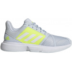 Adidas Court Jam Bounce Womens Tennis Shoe - Halo Blue/FTWR White/Solar Yellow Adidas Court Jam Bounce Womens Tennis Shoe - Halo Blue/FTWR White/Solar Yellow