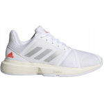 Adidas CourtJam Bounce Womens Tennis Shoe - FTWR White/Silver Met./Solar Red Adidas CourtJam Bounce Womens Tennis Shoe - FTWR White/Silver Met./Solar Red