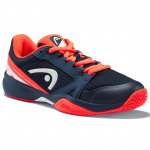 HEAD Sprint 2.5 Kids Tennis Shoe - Dark Blue/Neon Red HEAD Sprint 2.5 Kids Tennis Shoe - Dark Blue/Neon Red