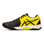 Image 2: ASICS GEL-Resolution 7 GS Boys Tennis Shoe - BLACK/SOUR YUZU