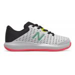 New Balance KC696v4 Girls Tennis Shoe - White/Black/Peony New Balance KC696v4 Girls Tennis Shoe - White/Black/Peony