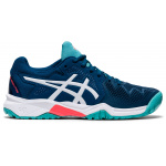 ASICS GEL-Resolution 8 GS Kids Tennis Shoe - MAKO BLUE/WHITE ASICS GEL-Resolution 8 GS Kids Tennis Shoe - MAKO BLUE/WHITE