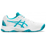 ASICS GEL-Resolution 8 GS Kids Tennis Shoe - WHITE/LAGOON ASICS GEL-Resolution 8 GS Kids Tennis Shoe - WHITE/LAGOON