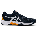 ASICS GEL-Resolution 8 GS Kids Tennis Shoe - French Blue/White ASICS GEL-Resolution 8 GS Kids Tennis Shoe - French Blue/White