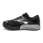 Image 2: Brooks Beast 18 2E WIDE Men's Running Shoe - Black/Grey/Silver