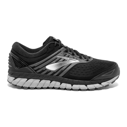 Brooks Beast 18 2E WIDE Men's Running Shoe - Black/Grey/Silver