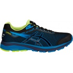 ASICS GT-1000 7 G-TX Men's Running Shoe - BLACK/RACE BLUE ASICS GT-1000 7 G-TX Men's Running Shoe - BLACK/RACE BLUE